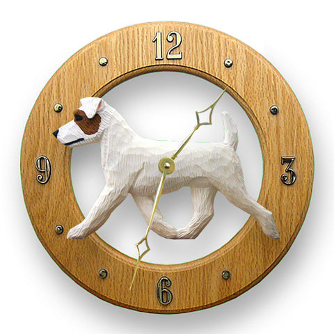 Jack Russell Terrier (Rough) Wall Clock - Michael Park, Woodcarver