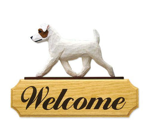 Jack Russell Terrier (rough) DIG Welcome Sign
