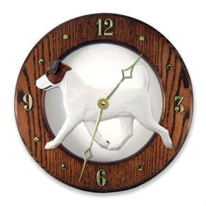 Jack Russell Terrier Wall Clock - Michael Park, Woodcarver