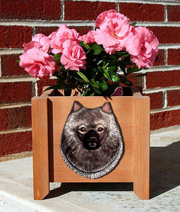 Keeshond Planter Box - Michael Park, Woodcarver