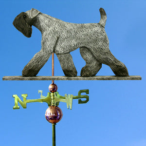 Kerry Blue Terrier Weathervane - Michael Park, Woodcarver