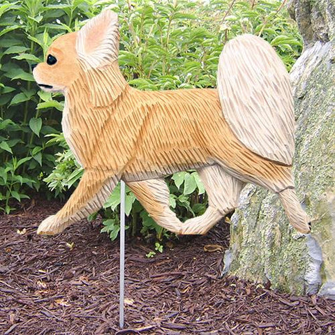 Chihuahua (longhaired) Garden Stake - Michael Park, Woodcarver