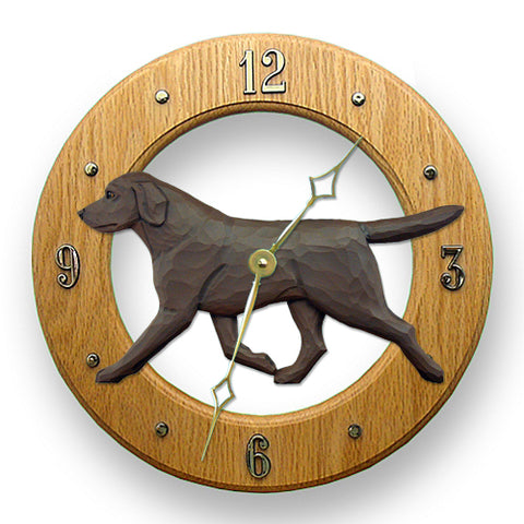 Labrador Retriever Wall Clock - Michael Park, Woodcarver