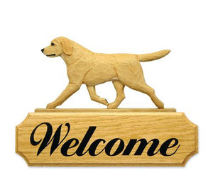 Labrador Retriever DIG Welcome Sign