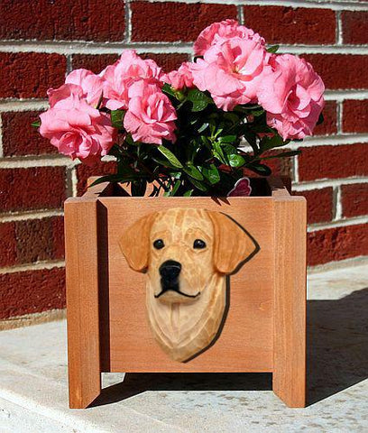Labrador Retriever Planter Box - Michael Park, Woodcarver
