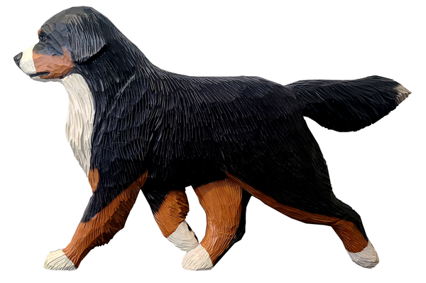 Large Handcarved Bernese Mountain Dog Wall Hanging