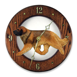 Leonberger Wall Clock - Michael Park, Woodcarver