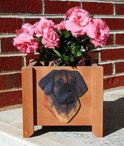 Leonberger Dog Planter Box - Michael Park, Woodcarver