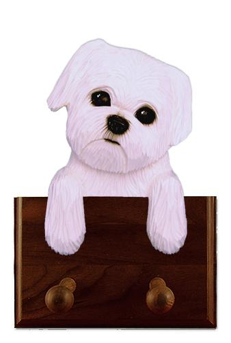 Maltese Puppy Clip Leash Holder