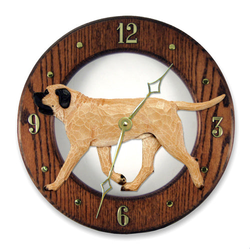 Mastiff Wall Clock - Michael Park, Woodcarver