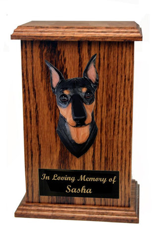 Miniature Pinscher Memorial Urn