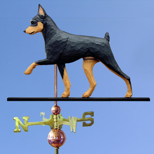 Miniature Pinscher Weathervane - Michael Park, Woodcarver