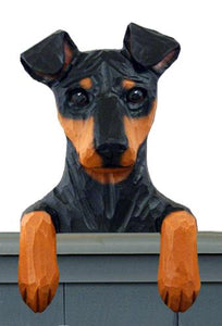 Miniature Pinscher (Natural) Door Topper