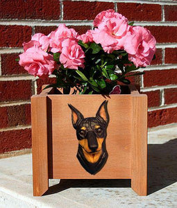 Miniature Pinscher Planter Box - Michael Park, Woodcarver