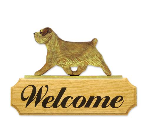 Norfolk Terrier DIG Welcome Sign