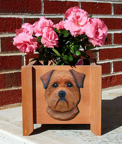 Norfolk Terrier Planter Box - Michael Park, Woodcarver
