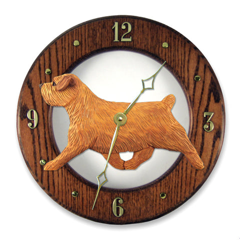 Norfolk Terrier Wall Clock - Michael Park, Woodcarver