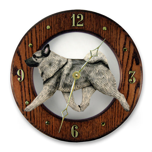 Norwegian Elkhound Wall Clock - Michael Park, Woodcarver