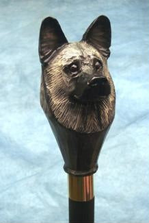 Norwegian Elkhound Walking Stick