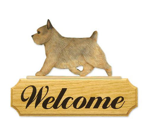 Norwich Terrier DIG Welcome Sign