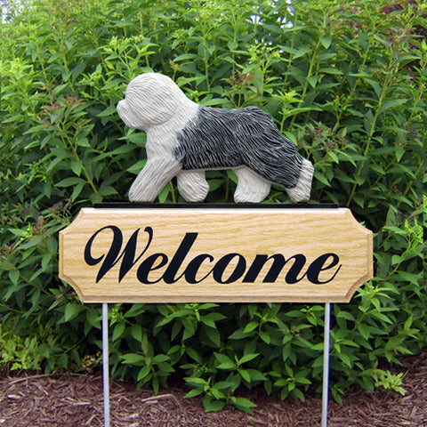 Old English Sheepdog DIG Welcome Stake