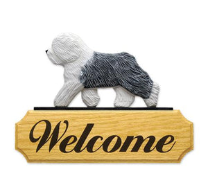 Old English Sheepdog DIG Welcome Sign