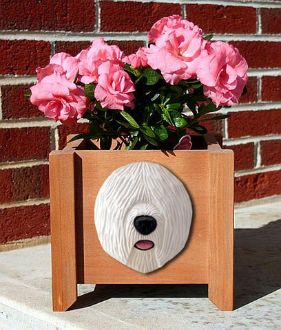 Old English Sheepdog Planter Box - Michael Park, Woodcarver
