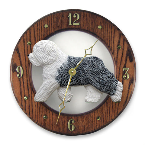 Old English Sheepdog Wall Clock - Michael Park, Woodcarver