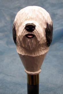 Old English Sheepdog Walking Stick