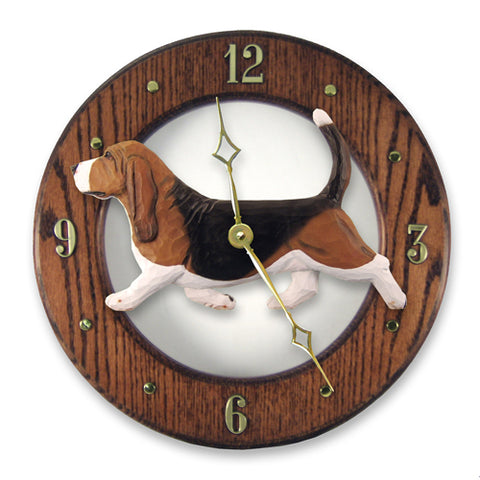 Basset Hound Wall Clock - Michael Park, Woodcarver