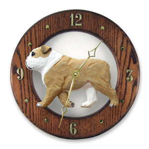 English Bulldog Wall Clock - Michael Park, Woodcarver