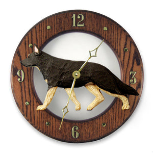 German Shepherd Wall Clock - Michael Park, Woodcarver