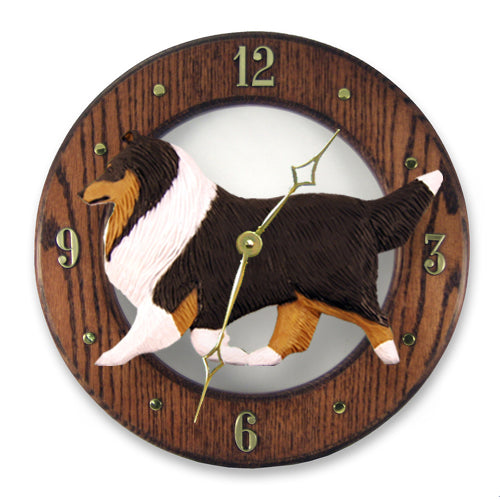 Shetland Sheepdog Wall Clock - Michael Park, Woodcarver