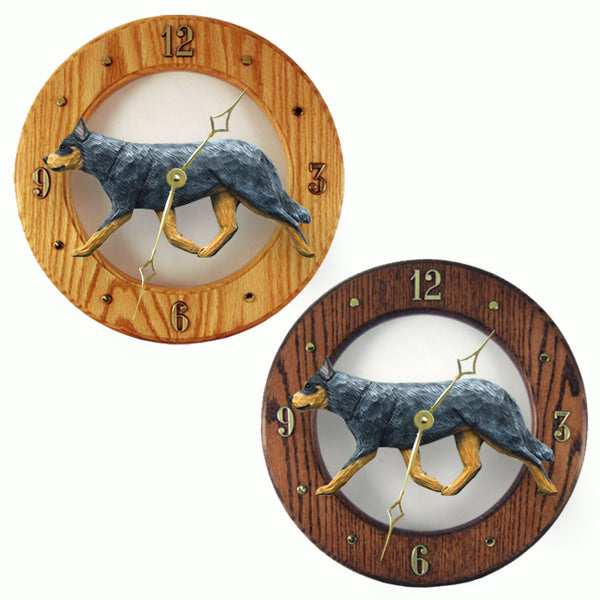 Australian Cattle Dog Wall Clock - Michael Park, Woodcarver