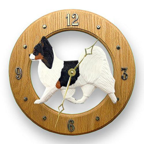 Papillon Wall Clock - Michael Park, Woodcarver