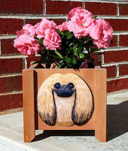 Pekingese Planter Box - Michael Park, Woodcarver