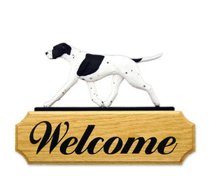 English Pointer DIG Welcome Sign