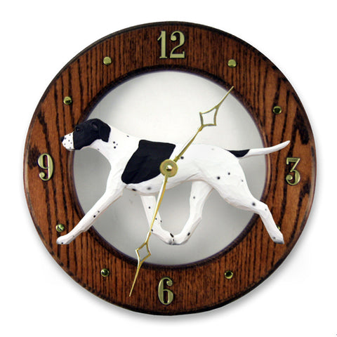 English Pointer Wall Clock - Michael Park, Woodcarver