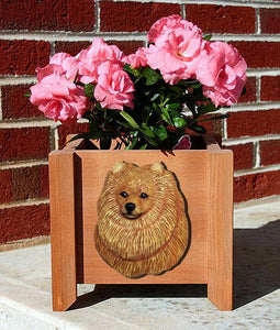 Pomeranian Planter Box - Michael Park, Woodcarver