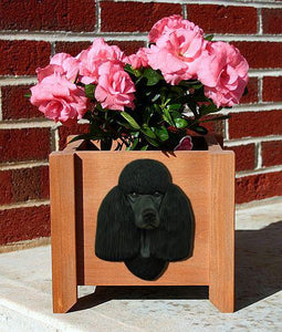 Poodle Planter Box - Michael Park, Woodcarver