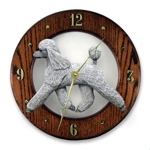 Poodle Wall Clock - Michael Park, Woodcarver