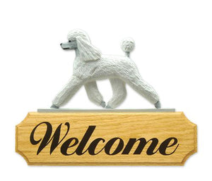 Poodle DIG Welcome Sign