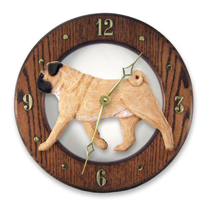 Pug Wall Clock - Michael Park, Woodcarver