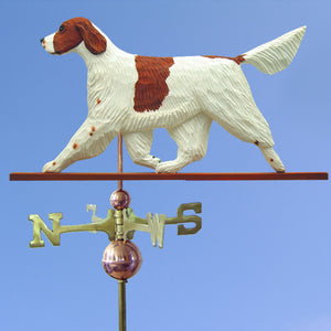 Red and White Irish Setter Weathervane - Michael Park, Woodcarver