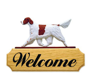 Irish Red and White Setter DIG Welcome Sign
