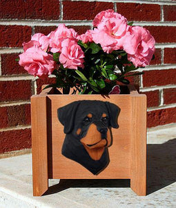 Rottweiler Planter Box - Michael Park, Woodcarver