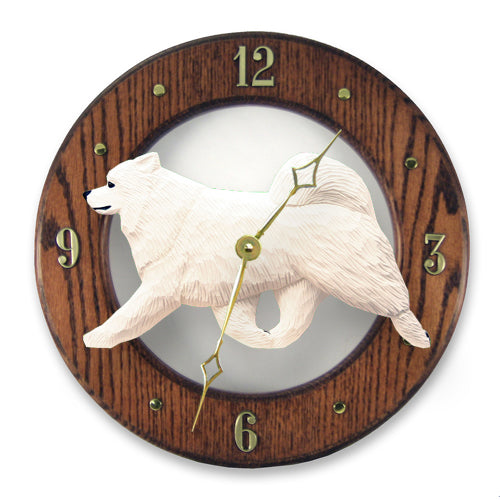 Samoyed Wall Clock - Michael Park, Woodcarver