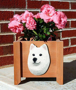 Samoyed Planter Box - Michael Park, Woodcarver