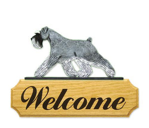 Schnauzer (Natural) DIG Welcome Sign