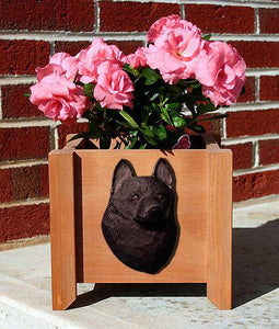 Schipperke Planter Box - Michael Park, Woodcarver